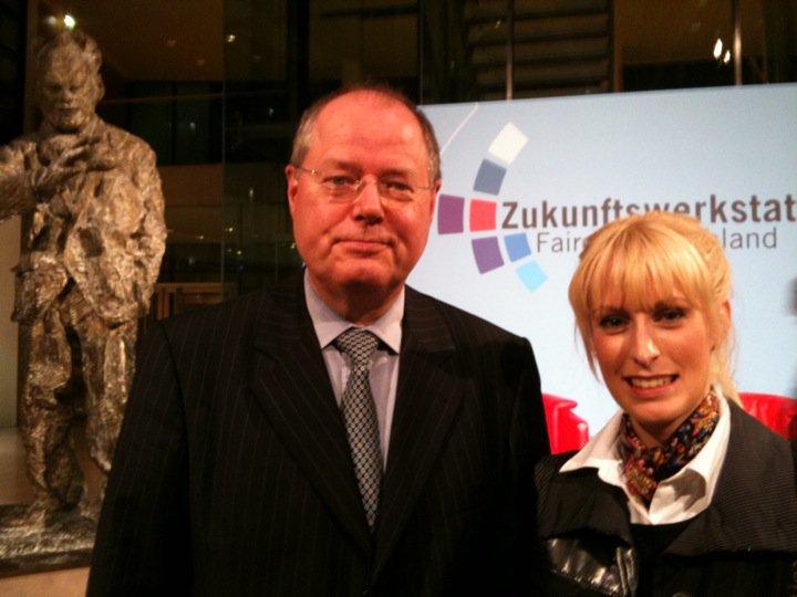 Peer Steinbrück und Anna Dobler