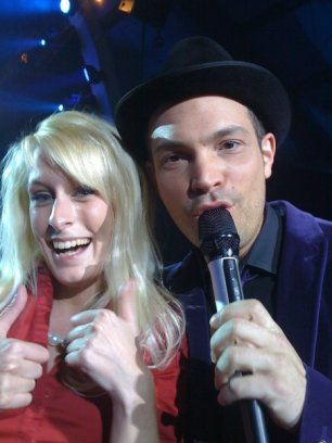 Anna Dobler und Sänger Roger Cicero