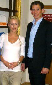 Anna Dobler und Politiker Sebastian Kurz (Politik) (Politik)